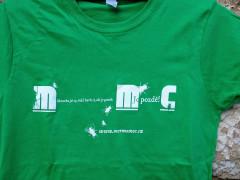 Dámské triko Mermomoc - zelené (detail)